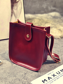 Red Leatherette  Shoulder Crossbody  Bag