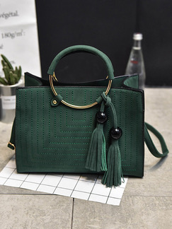 Green Leatherette  Hand Shoulder Crossbody Bag