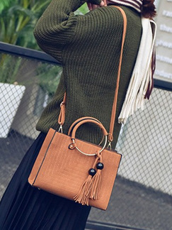 Brown Leatherette  Hand Shoulder Crossbody Bag