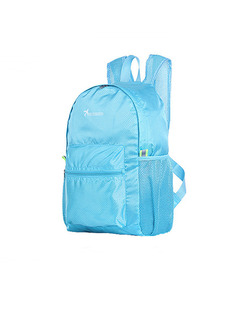 Blue Nylon Foldable Shoulders Backpack Bag
