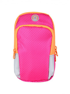 Pink Nylon Outdoor Sports Arm Phone  Arm Bag