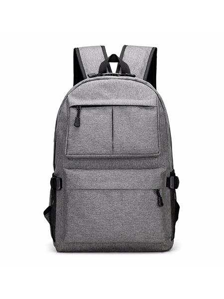 Grey Nylon Outdoor Sports Big Capacity Backpack Men Bag Dress