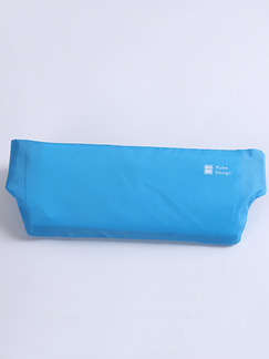 Blue Nylon Outdoor Sports Invisible Waist Fanny Pack Women Bag