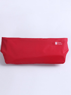 Red Nylon Outdoor Sports Invisible Waist Fanny Pack Women Bag