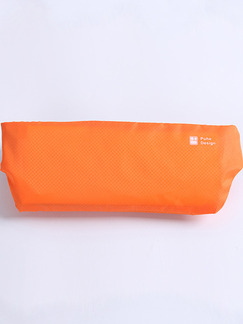 Orange Nylon Outdoor Sports Invisible Waist Fanny Pack Women Bag