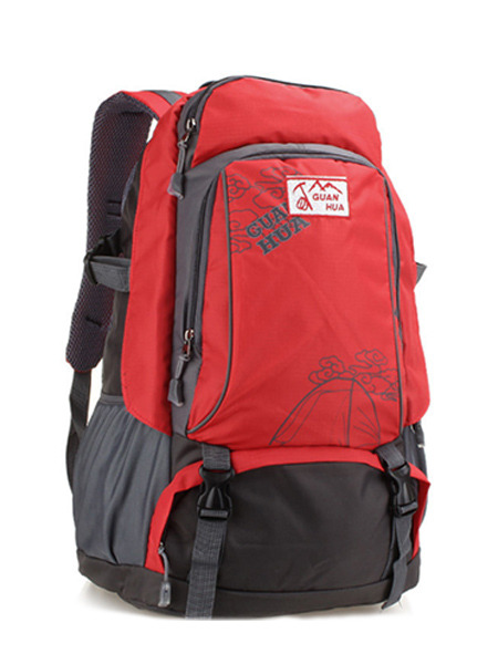 Red Nylon Outdoors Travel Big Capacity Backpack Men Bag