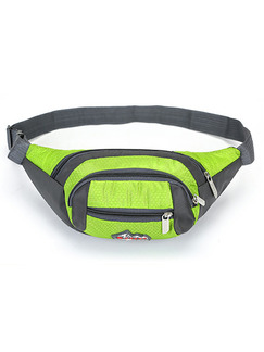 Green and Black Nylon Outdoor Multifunction Travel Fannypack Men Bag