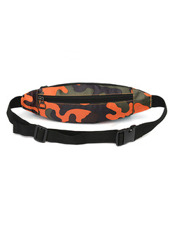 Colorful Nylon Outdoor Multifunction Waterproof Camouflage Fannypack Men Bag