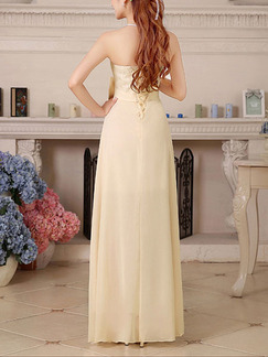 Champagne Lace Strapless Maxi Plus Size Dress for Bridesmaid Prom Ball
