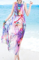 Colorful Maxi Plus Size Dress for Casual Beach