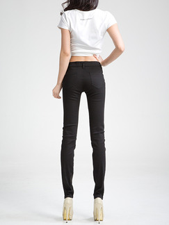 Black Long Denim Pants for Casual