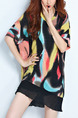 Black Yellow Colorful Shift Above Knee  Dress for Casual Party