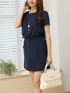 Blue Shift Above Knee Dress for Casual Office