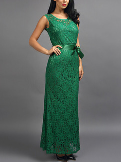 Green Maxi Lace Plus Size Dress for Prom Bridesmaid Cocktail