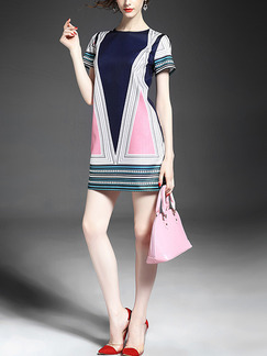 Colorful Bodycon Above Knee Plus Size Dress for Casual Party Evening Nightclub