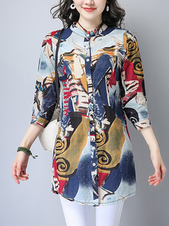 Colorful Shift Above Knee Plus Size T-Shirt Dress for Casual Office Evening Party