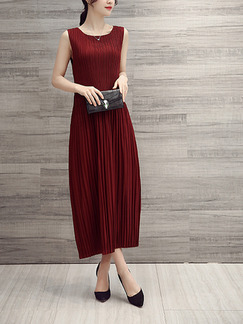 Red Shift Midi Plus Size Dress for Casual Evening