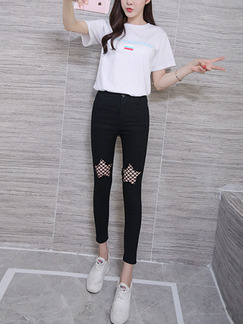 Black Long Plus Size Pants for Casual Office Evening Party