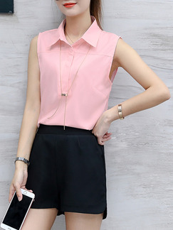 Black and Pink Two Piece Shirt Shorts Plus Size Cute Jumpsuit for Casual Office Evening Party