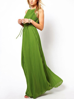 Green Maxi Plus Size Dress for Cocktail Party Ball