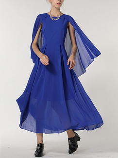 Blue Maxi Plus Size Dress for Cocktail Ball Prom
