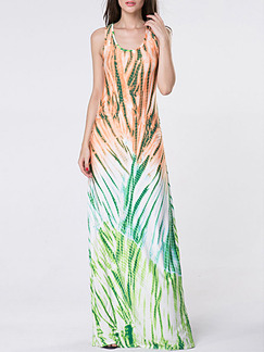 Colorful Maxi Plus Size Slip Dress for Cocktail Party Evening