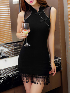 Black Above Knee Lace Bodycon Dress for Party Cocktail Evening