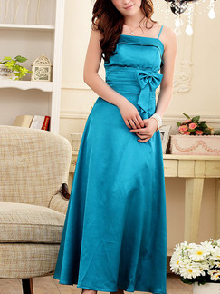Blue Maxi Slip Dress for Party Evening Bridesmaid Prom Cocktail  Seasonal Discount
