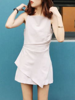 Beige Above Knee Fit & Flare Dress for Casual Party