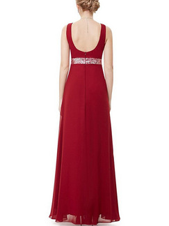 Red Maxi V Neck Backless Plus Size Dress for Party Evening Cocktail Prom Bridesmaid