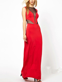 Red Maxi Plus Size Dress for Party Evening Cocktail