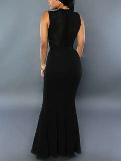 Black Maxi Bodycon Plus Size Dress for Cocktail Ball