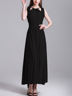 Black Maxi Plus Size Dress for Cocktail Prom Party Evening