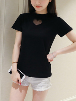 Black Shirt Plus Size Top for Casual