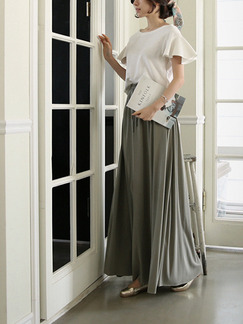 White and Grey Two Piece Plus Size Maxi Dress for Casual Evening