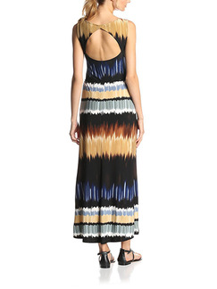 Black Beige Colorful Plus Size Maxi Backless Dress for Casual Beach