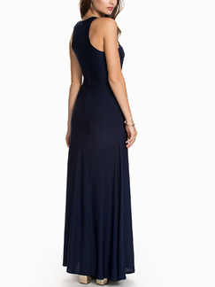 Blue Maxi Dress for Cocktail Prom Evening