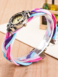 Multi-Color Nylon Band Bracelet Quartz Watch