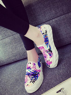 Colorful Canvas Round Toe Rubber Shoes