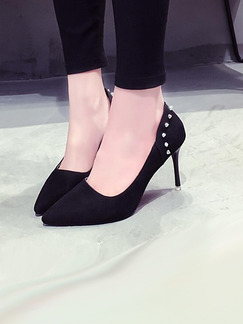 Black Suede Pointed Toe High Heel Stiletto Heel Pumps 9.5CM Heels