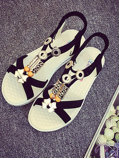 Black and Gold Suede Open Toe Ankle Strap Sandals