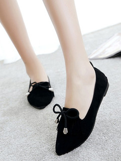 Black Suede Pointed Toe Flats