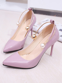 Pink Patent Leather Pointed Toe High Heel Stiletto Heel Pumps 9.5cm Heels