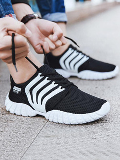 Black and White Canvas Comfort  Shoes for Casual Athletic Outdoor