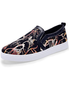 Black White Colorful Canvas Comfort  Shoes for Casual Outdoor