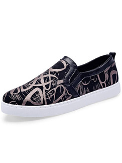 Black White and Gold Canvas Comfort  Shoes for Casual Outdoor
