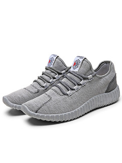 Grey Canvas Comfort  Shoes for Casual Athletic Outdoor