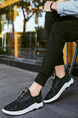 Blue Black and White Canvas Comfort  Shoes for Casual Athletic Outdoor
