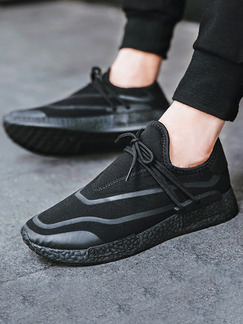 Black Canvas Comfort Shoes for Casual Athletic Outdoor