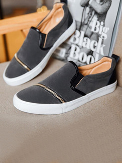 Grey and White Suede Comfort  Shoes for Casual Outdoor